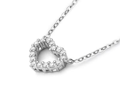 钻石心形吊坠