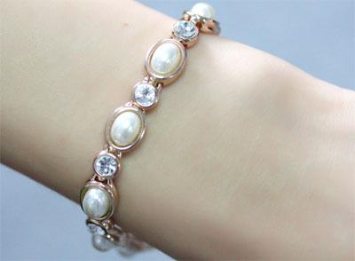 珍珠手链款式图片