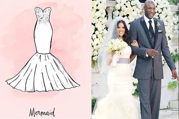 """奢华气质的鱼尾裙礼服   结婚怎么挑选婚纱?鱼尾裙礼服是非常有辨识度的,采用紧贴身体的曲线设计,将女性的成熟韵味完美体现出来,像科勒卡戴珊的婚礼上就选择了了鱼尾礼服,当然,标志性的""""卡戴珊臀""""也因为人鱼尾的设计异常明显。   结婚怎么挑选婚纱?浪漫的婚纱搭配一枚DR真爱戒指,让新娘成为婚礼上最惹眼的主角,给你爱的她一场此生难忘的婚礼。"""